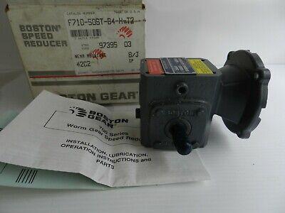 Boston Gear Worm Gear Speed Reducer F710-500st-b4-h-t2 501 Ratio