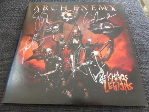 "ARCH ENEMY signed Autogramm ""KHAOS LEGIONS"" Vinyl signiert InPerson LOOK"