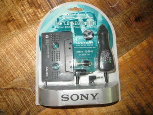Sony DCC-E34CP Car-Connecting-Kit-Cassette-Tape-Adapter-Charger-NEW