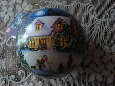 Schmidt Spiele Christmas Eve Night Puzzle Ball Ornament 100 pc NEW ()