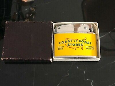 VINTAGE BRAND NEW FLAT ADVERTISING POCKET LIGHTER LEFCO