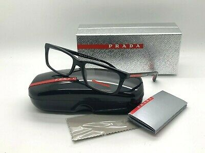 Prada Sport BLACK Eyeglasses OPS 02CV 1AB 101 53-17-140mm Italy Demo Lenses (Prada Men Glasses)