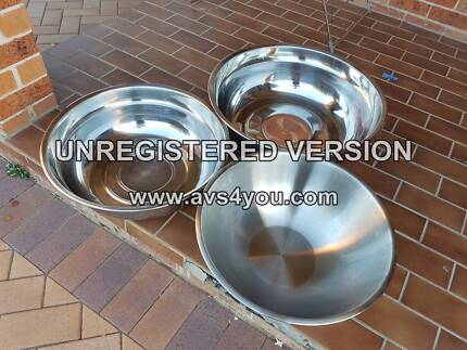 Stainless Steel Bowls - set of 3
