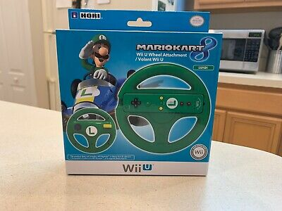 Wii U Mario Kart 8 Luigi Green Steering Wheel New Factory Sealed Ships In A Box!