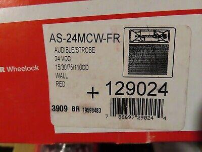 Cooper Wheelock 129024 Fire Alarm As-24mcw-fr Audiblestrobe