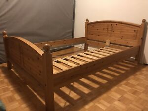 IKEA Queen size solid wood bedframe