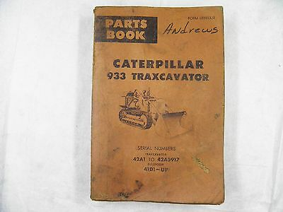 Cat Caterpillar 933a Parts Manual Book 42a1-5917