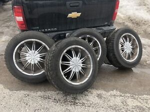 275 55 20 Hercules terra trac on aftermarket rims