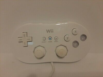 Genuine Nintendo Brand Wii Classic Controller White OEM RVL-005 Tested Working