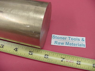 3 C360 Brass Round Rod 5.5 Long Solid 3.00 Diameter H02 Lathe Bar Stock
