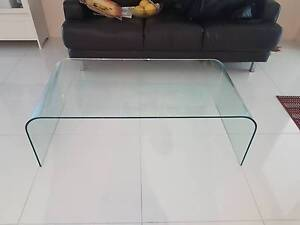 Curved Glass Coffee Table Albany Creek Brisbane North East Preview