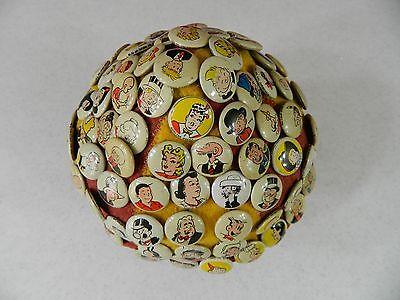 Complete Set of 86 Kellogg's Cartoon Pep Pins on Beanie - Pinback Buttons