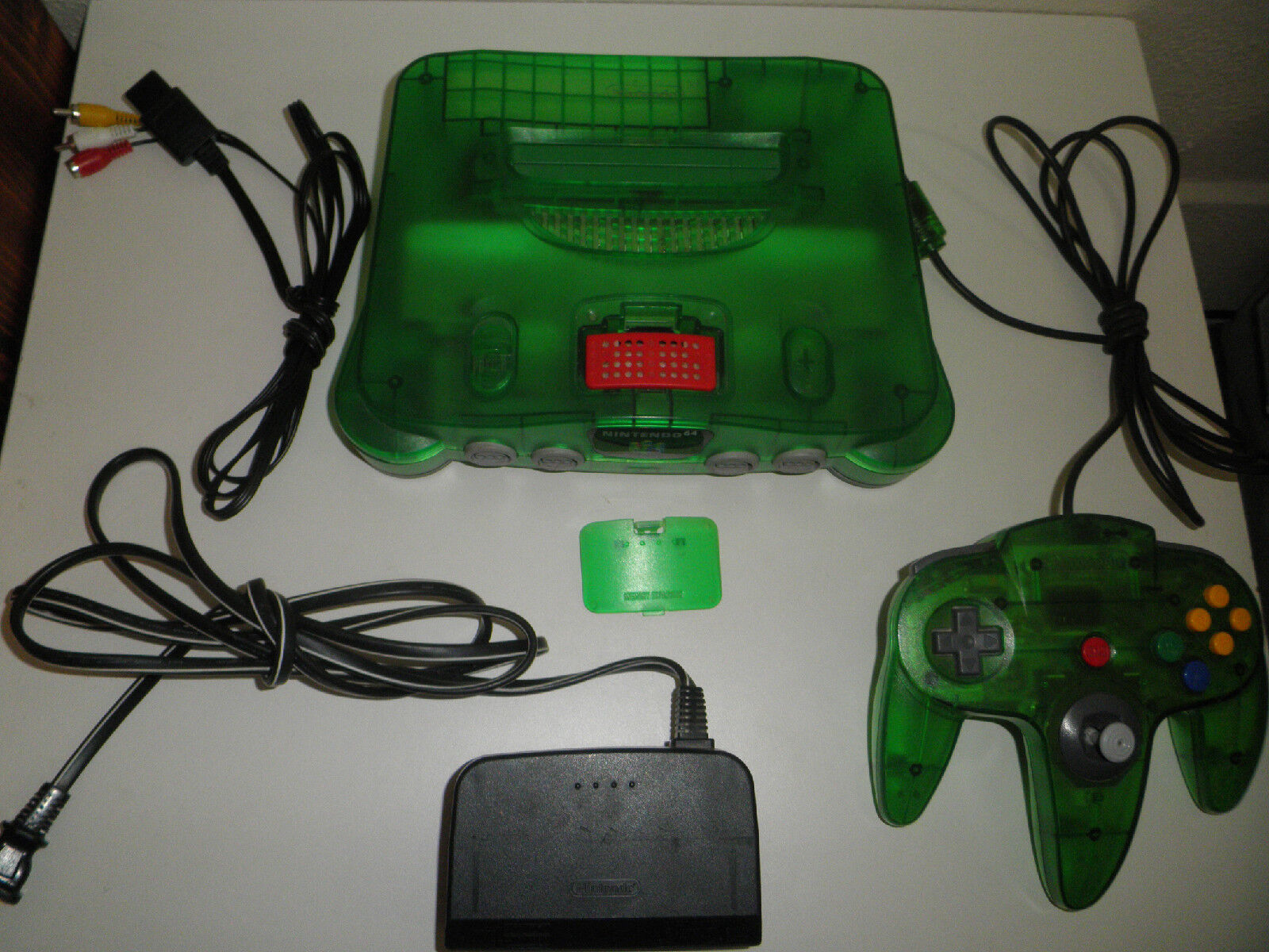 NINTENDO 64 JUNGLE GREEN CONSOLE SYSTEM EXPANSION PACK N64 ...