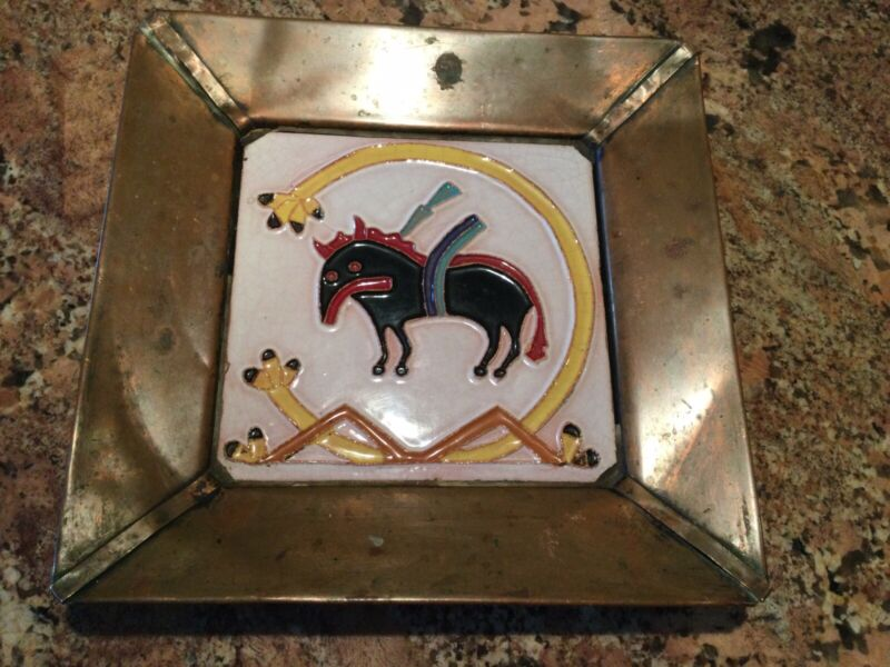 1950's- Desert House Crafts - Gila Pottery Tile By Bob McKusick