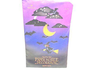 Hallmark Halloween Decorations (Vintage Hallmark Paper WITCH MOBILE Halloween Decorations Sealed)