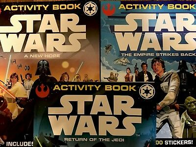 Star Wars  Classic Trilogy Activity Book Set Rare Uk International Full Rare Set