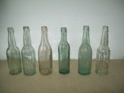 6 different antique old  Brewing co beer /soda bottles early 1900