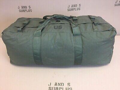 New Style with zipper OD Green Duffel Bag W/ Shoulder straps USGI Military