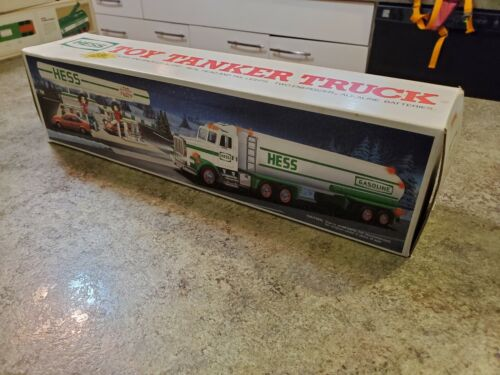 1990 Advertising HESS Gasoline Toy Tanker Truck Dual Sound NRFB NEW