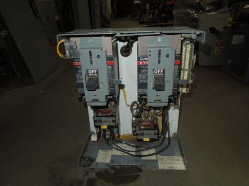 """Cutler Hammer F10 Unitrol Twin Size 1 20A/40A Twin Breaker MCC Bucket 15""""T"""