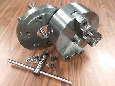 8 3-jaw Self-centering Lathe Chuck D1-6 Mounting Adapter0803d6--new