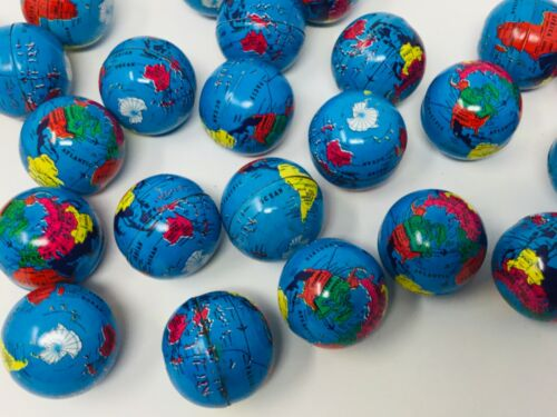 Vintage Gumball Earth Day Metal Mini Globes Lot of 20 Charm Vending Machine Toy