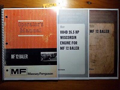 Massey Ferguson Mf12 Mf 12 Baler Owner Operator Manual Assembly Pre-delivery