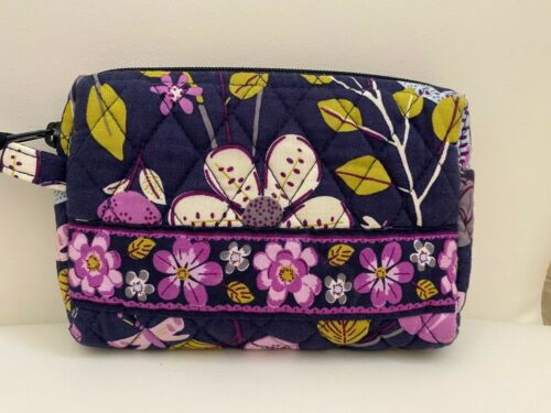 """Vera Bradley Zip Cosmetic Bag Lined Make-up Pouch Travel 6.75"""" X 5"""""""