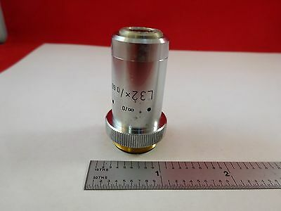 Microscope Part Objective Leitz Wetzlar Germany L32x Optics As Is Bind8-a-04