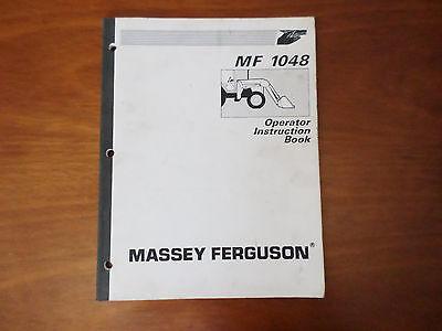 Massey Ferguson Mf 1048 Loader Operator Instruction Book 1997 Manual