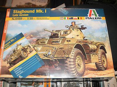 Italeri Models 6459 Staghound MK1 Armored Car Plastic Model Kit 1:35 Scale New