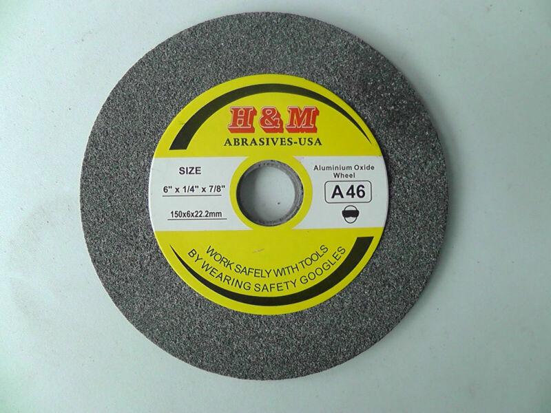 "Aluminum Oxide GRINDING WHEEL Vitrified 6"" x 1/4"" 100 grit Bench Grinder"