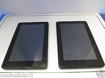 Lot of 2 Amazon Kindle Fire Tablet 7in 8GB Wi-Fi D01400 NO POWER AS IS.