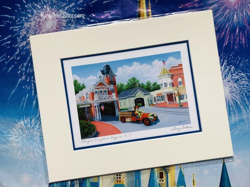 Disney Parks Magic Kingdom Fire Engine Co. 71 By Larry Dotson Print 8 x 10 NEW