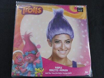Trolls Purple Adult Wig Dreamworks Hair Accessory New  Dress Up Costume Prop