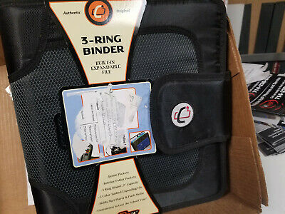 Case It 3 Ring Binder 2 Capacity Built In Expandable File Black New See Photos