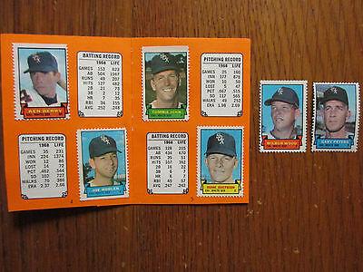 White Sox 1969 Topps Stamp Album Tommy John Luis Aparicio Ken Berry Com W 2 Xtra