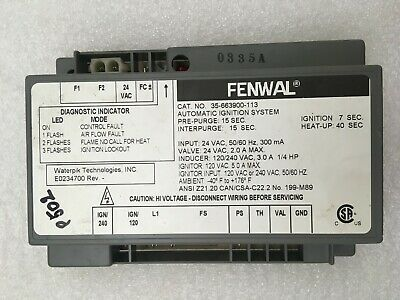 FENWAL 35-663900-113 Automatic Ignition System E0234700  #P502
