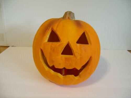 Trendmasters Molded Foam Lighted Jack O Lantern Pumpkin Halloween Scary Spooky
