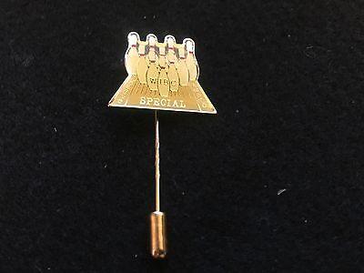 Vintage Wibc Special League Award Bowling Lapel Hat Stick Enamel Pin