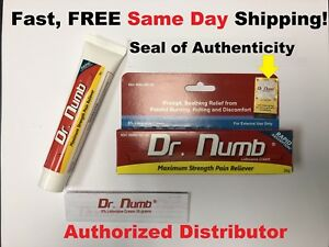 Dr Numb 5% Lidocaine Cream Numbing 30g Skin Tattoo/Waxing/Piercing Exp03/2021
