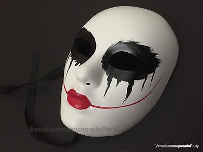 The Purge Red Lips Blood Death Joker mask anonymous horror movie scary Halloween - Halloween Mask Blood