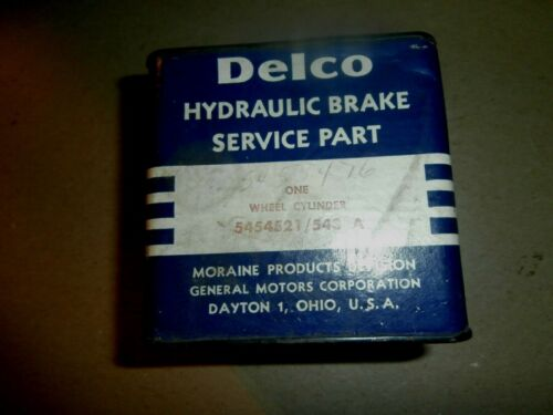 NOS Delco GM Chevy Wheel Cylinder 5454521 543A