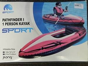 New Path Finder 1 person inflatable Kayak with paddle and pump!!! Woodville South Charles Sturt Area Preview