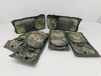 US Military MOLLE II Double Mag Pouches - ACU  6-PACK