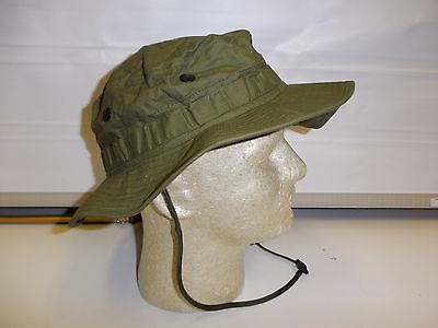 odb58 US Military Vietnam OD Poplin Boonie Hat size 58 / 7 1/4 W2A