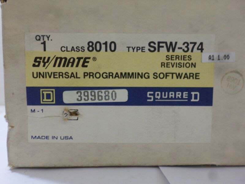 New Surplus Square D 8010 Swf-374 Sy/mate Series Revision