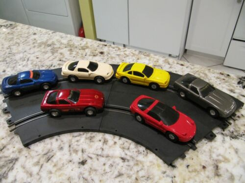 1990s set of 6 Slot Cars + 1 - Works on Eldon track