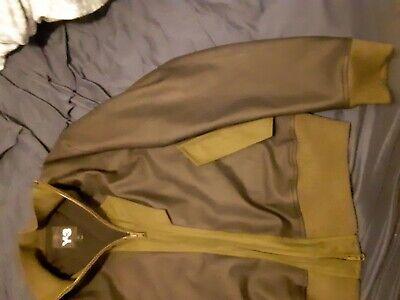 Men's Adidas Y-3 Leather Bomber Jacket size XXL
