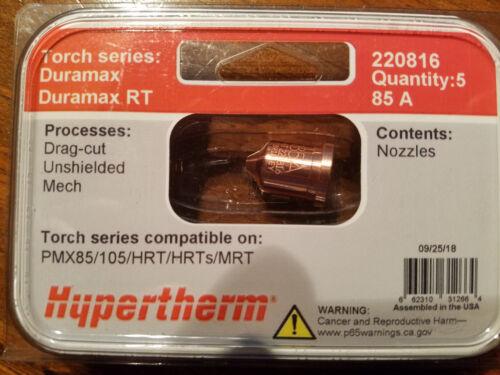NEW Hypertherm Nozzles, 5pack, #220816, PMX 85/105